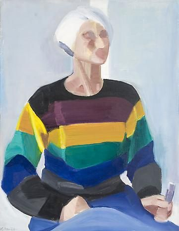 Self Portrait in Striped Sweater
