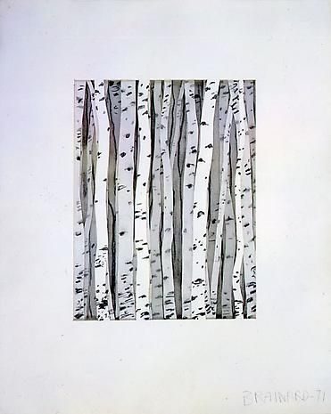 Joe Brainard Untitled (Birch Trees)