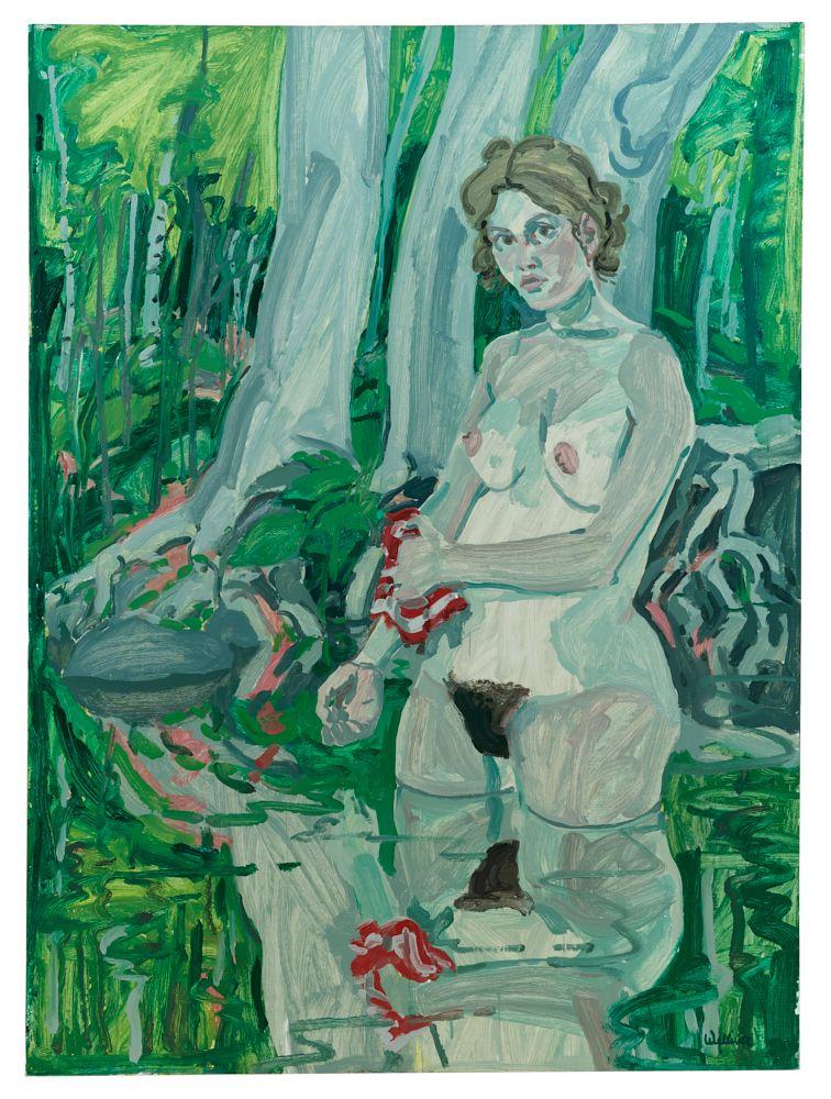 Neil Welliver Washcloth, 1967