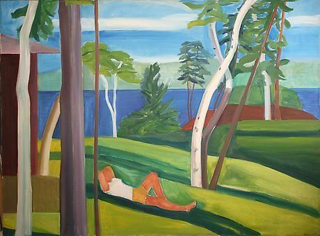 Maine Landscape with Figure