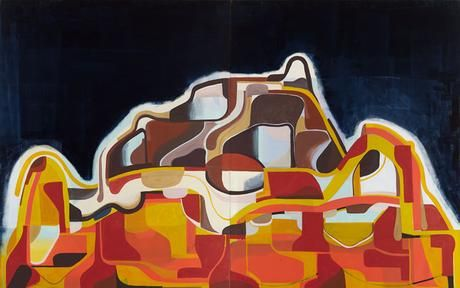 Gunung 2015 oil on canvas