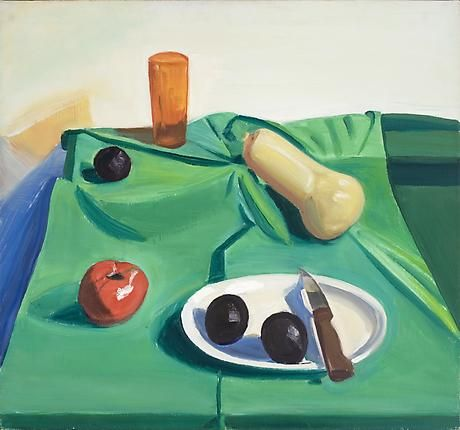 Still Life with Orange Glass and Plums