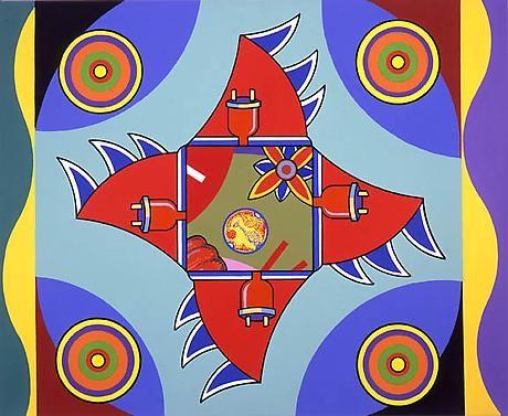 Constellation 2006 acrylic on canvas