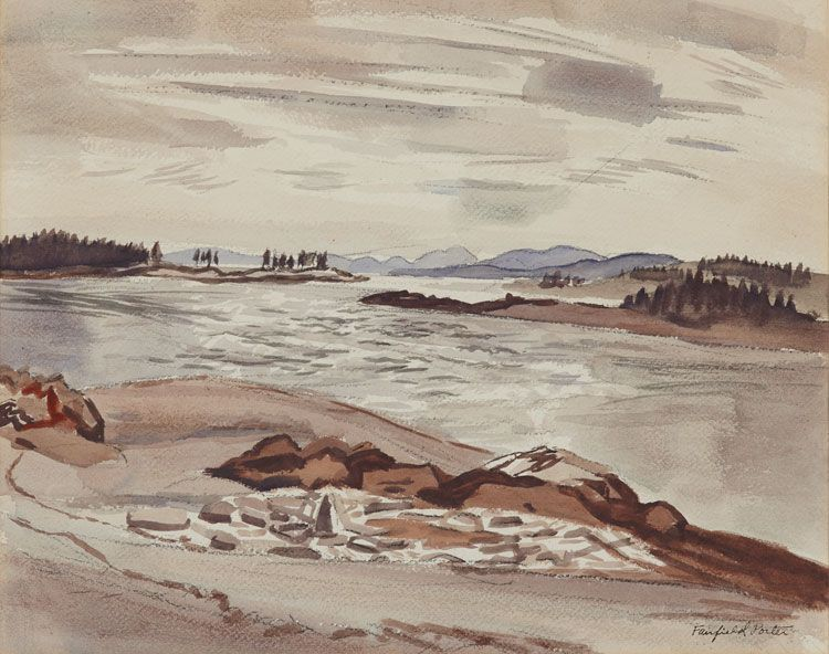 Fairfield Porter, Untitled (Maine Harbor), c.1950