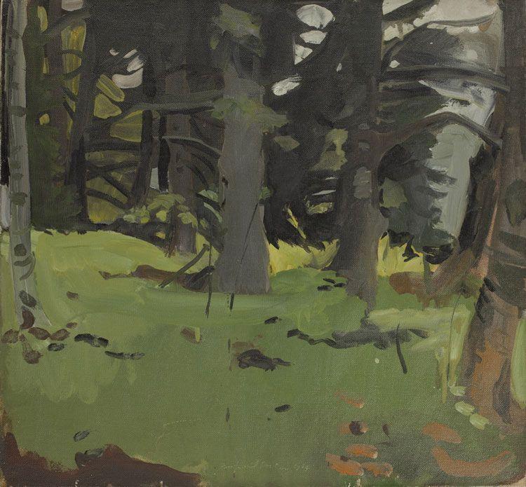 Fairfield Porter Spruce and Birch, 1964