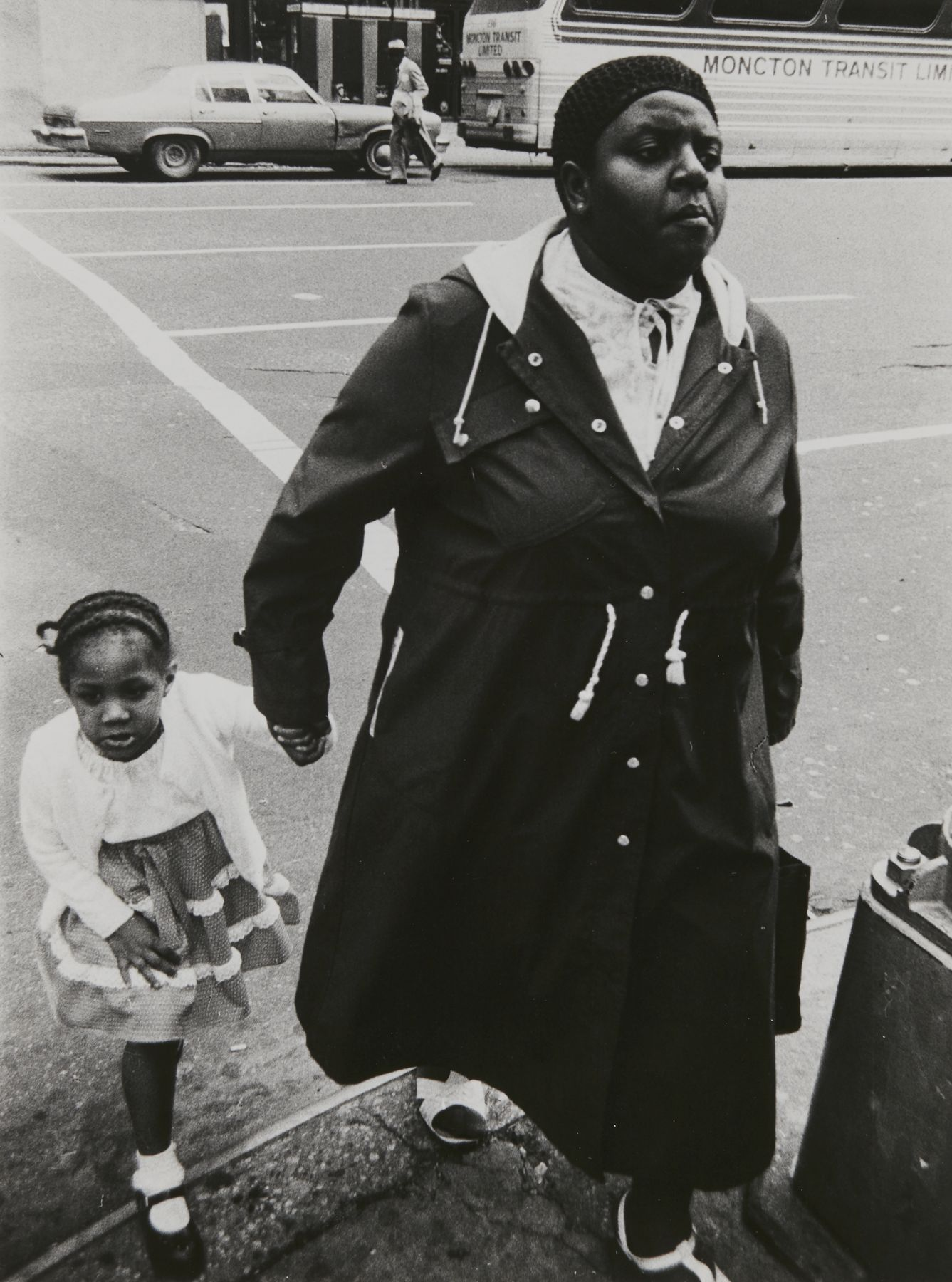 Rudy Burckhardt Untitled, New York (Woman with child), c. 1986