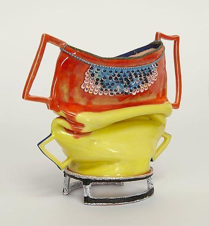 Diptych 2014 clay, glaze