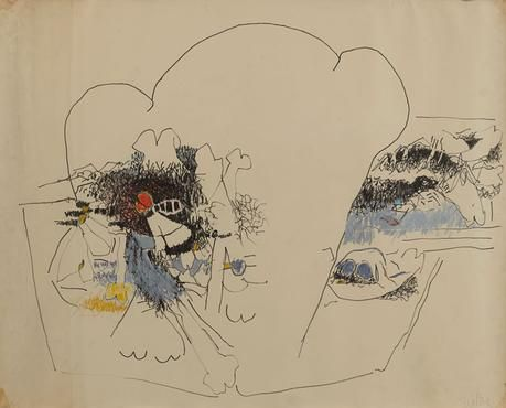 Untitled 1963-66 pastel and graphite on paper