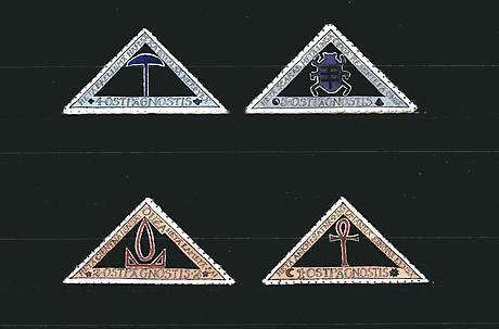 Donald Evans 1949.  Gnostis. Magical symbols.