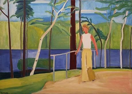 Maine, Girl on Bridge
