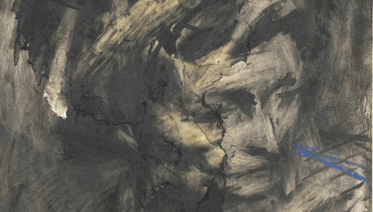 Frank Auerbach, Head of Gerda Boehm, 1961 (detail)