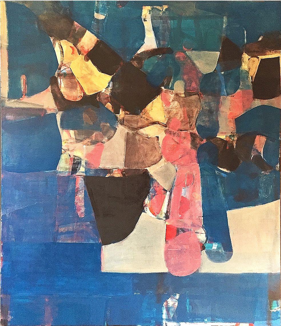 "Rob Szot. Western Plans. 2017. Oil on linen. 72"" x 60"". Anita Rogers Gallery"