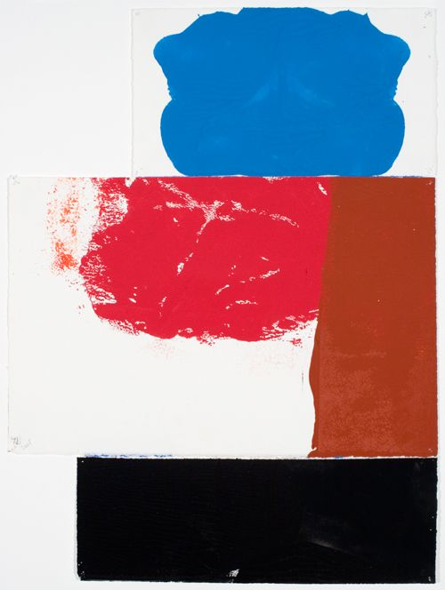 """George Negroponte. Small Figure. 2005. Gouache on paper. 19 3/4"""" x 15"""" at Anita Rogers Gallery"""