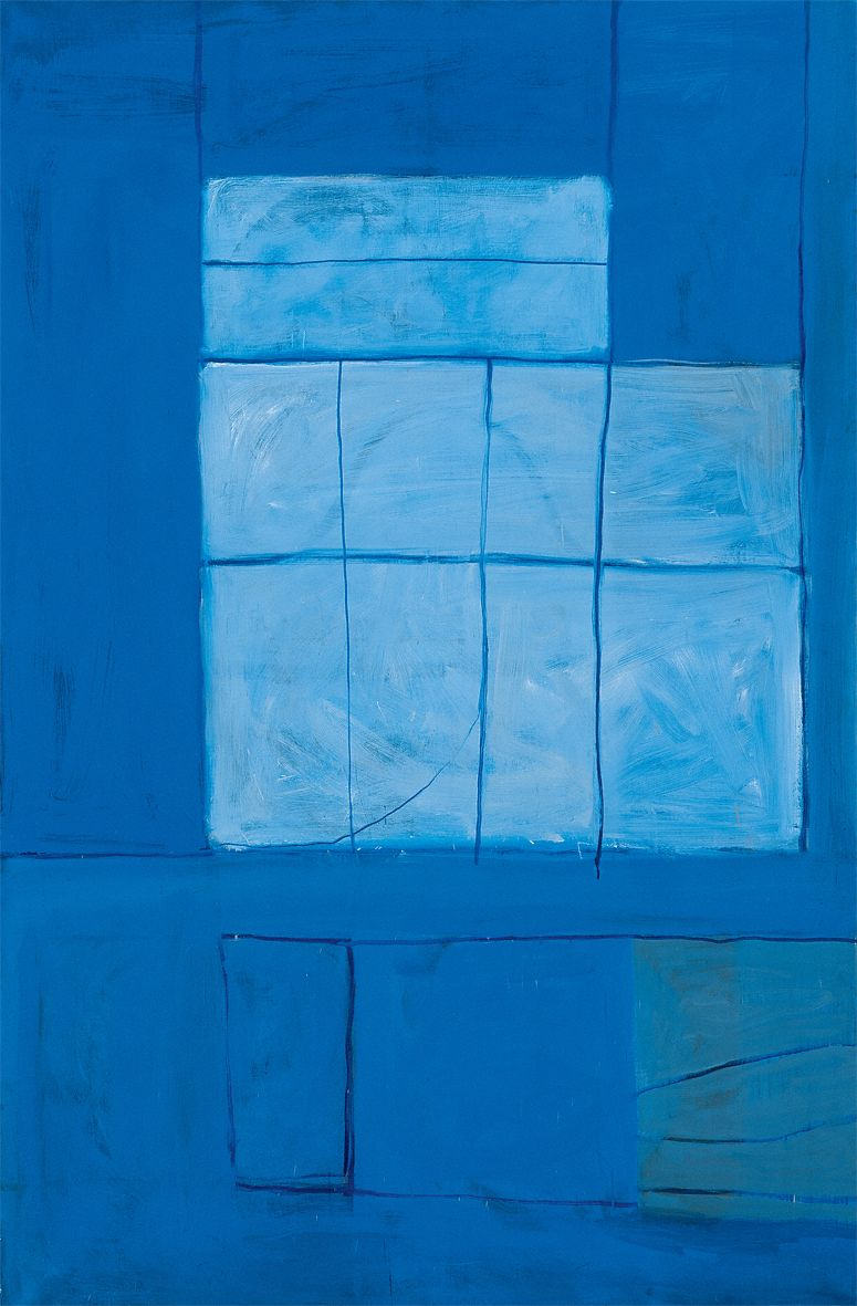 """William Scott. Blue East. 1964. Oil on canvas. 73"""" x 48"""" at Anita Rogers Gallery"""