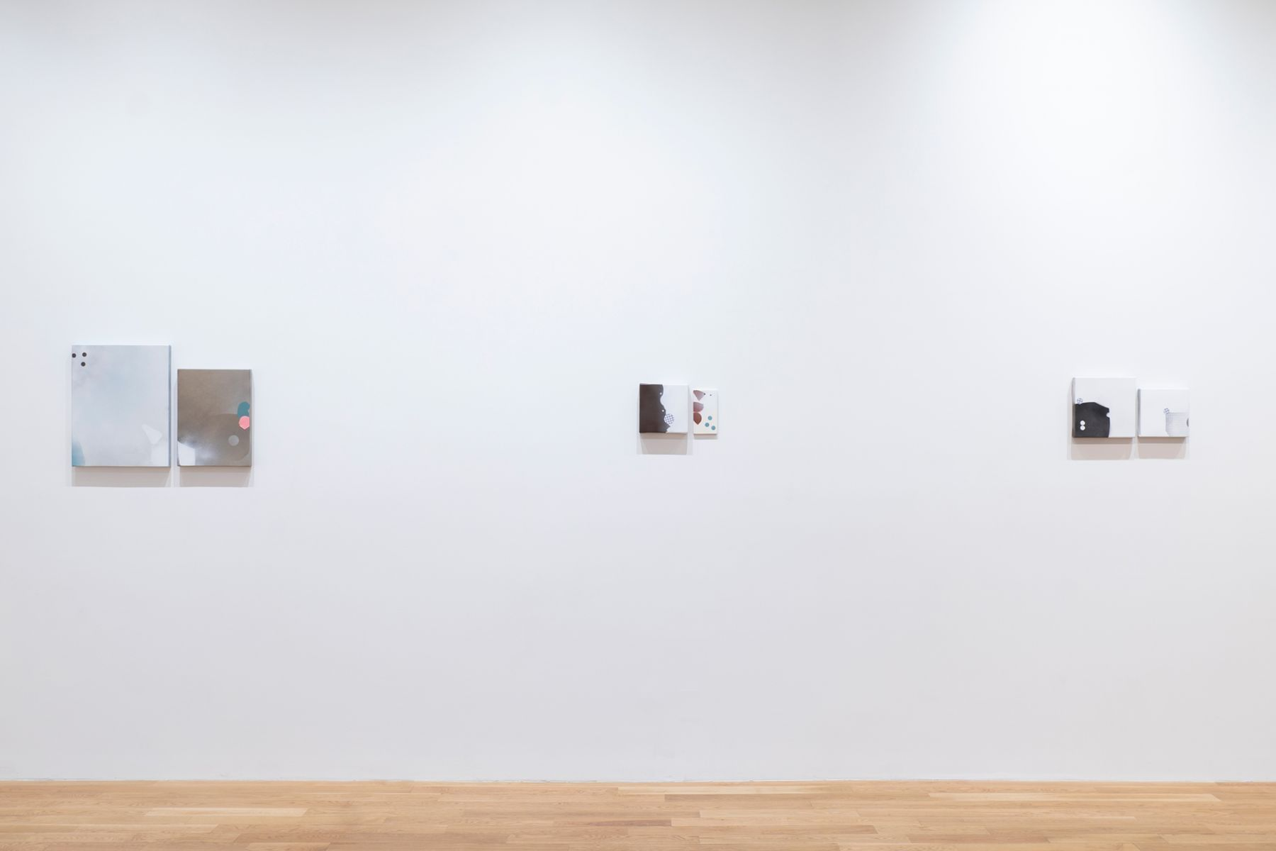Installation view of George Negroponte: When Love Comes To Town at Anita Rogers Gallery