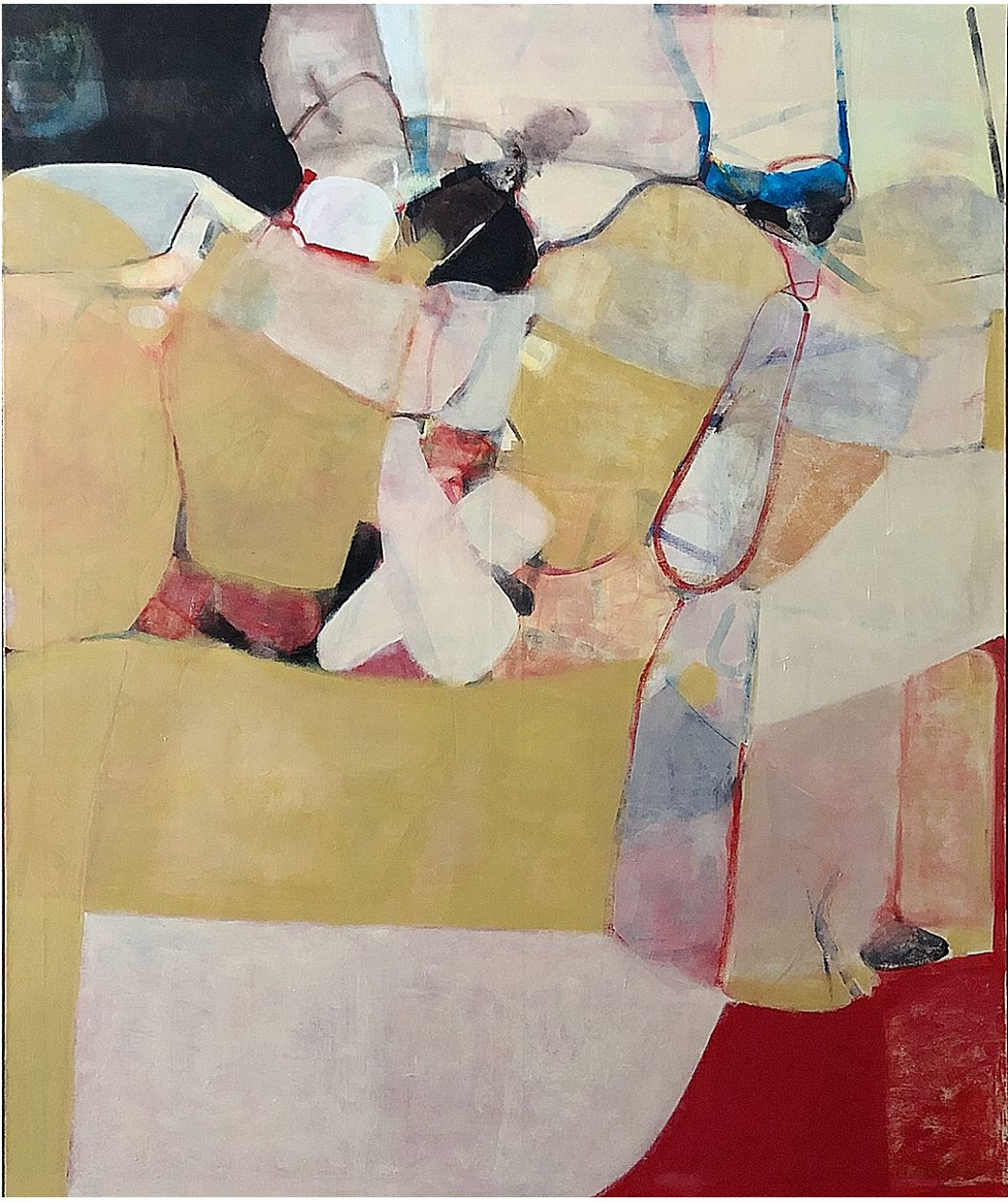 "Robert Szot. Young Life. 2018. Oil on linen. 72"" x 60"""