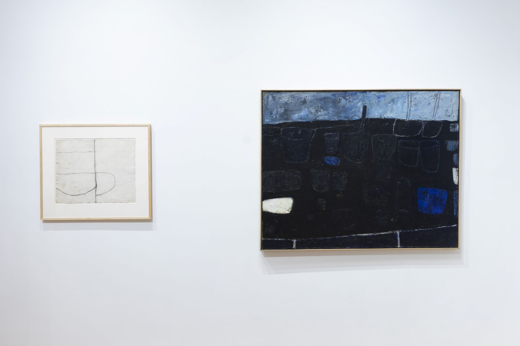 Installation view of William Scott: Paintings and Drawings, Fifties Through Eighties at Anita Rogers Gallery