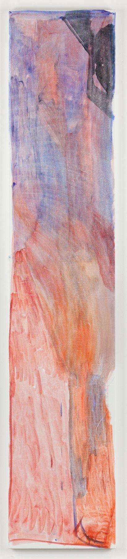 """Varda Caivano. Untitled. 2014. Acrylic on canvas. 79 1/2"""" x 15 3/4"""""""