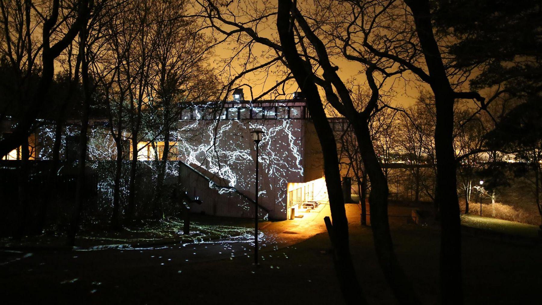 Charles Sandison's installation The Nature of Light illuminates the Sara Hildén Art Museum