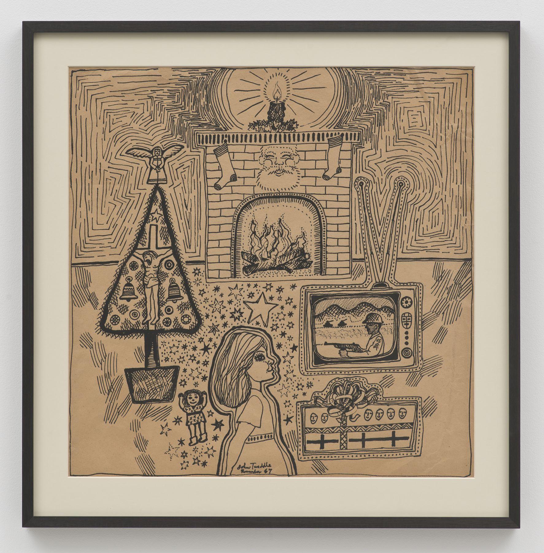 John Tweddle, Christmas (Girl with fireplace)