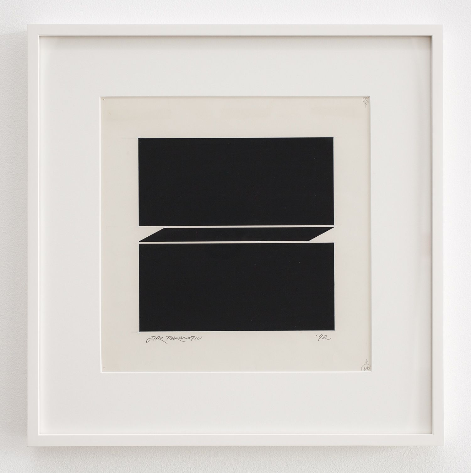 Jiro Takamatsu In the form of square, 1972