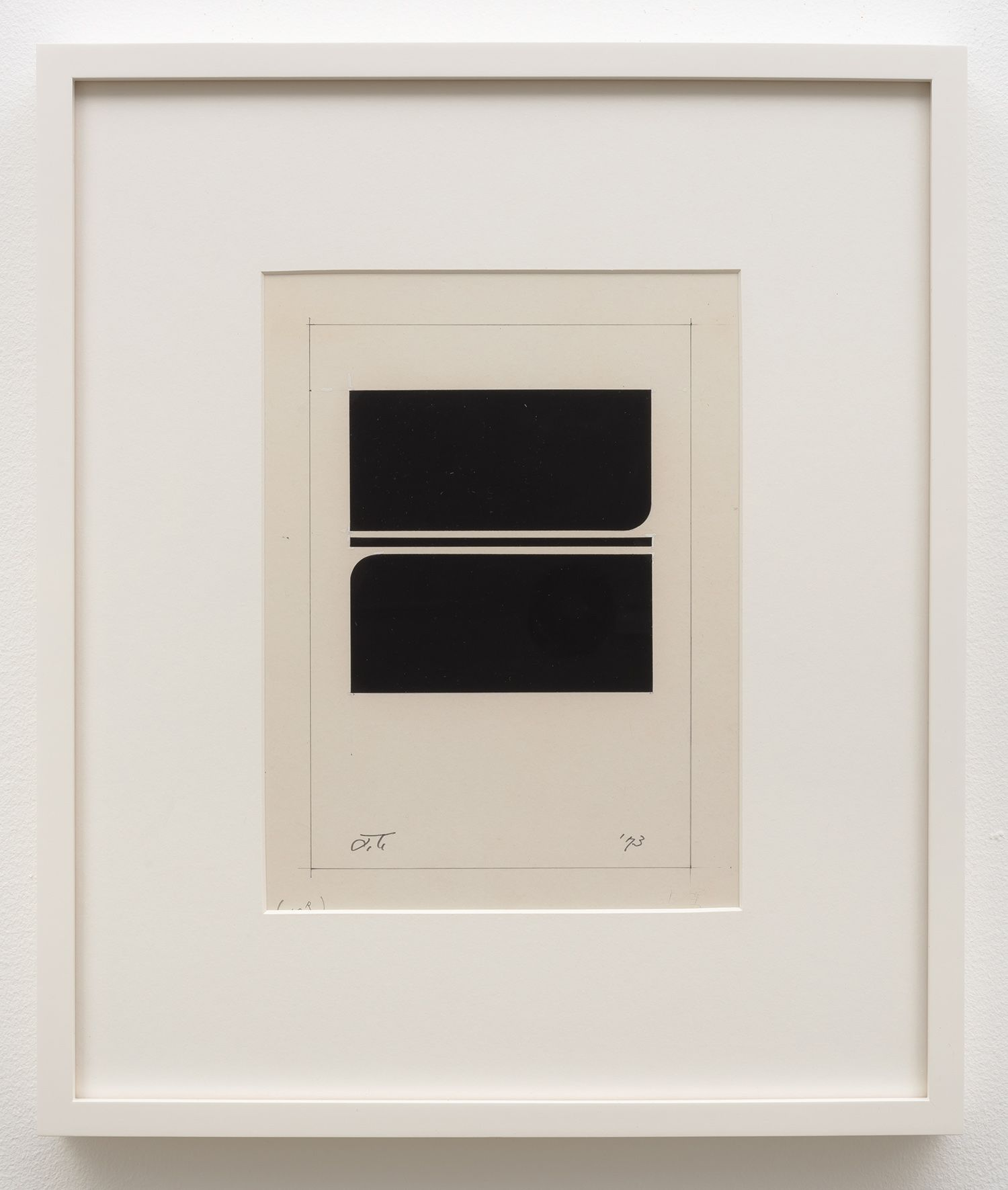 Jiro Takamatsu In the form of square, No. 586, 1973
