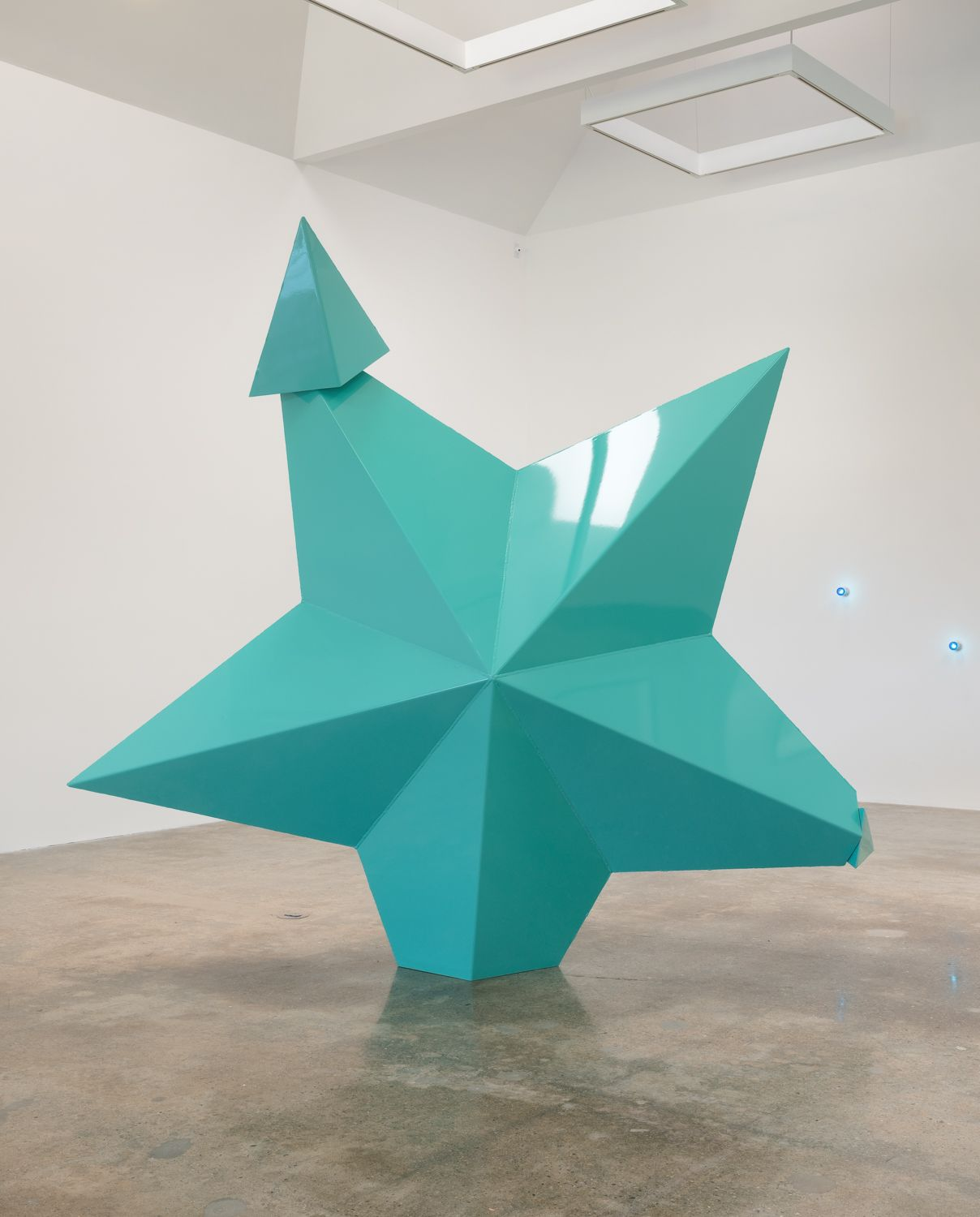 Mark Handforth  Turquoise Star, 2014