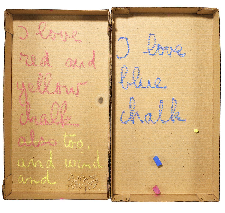 Robert Filliou, Autobiographical Element: I Love Chalk, 1973