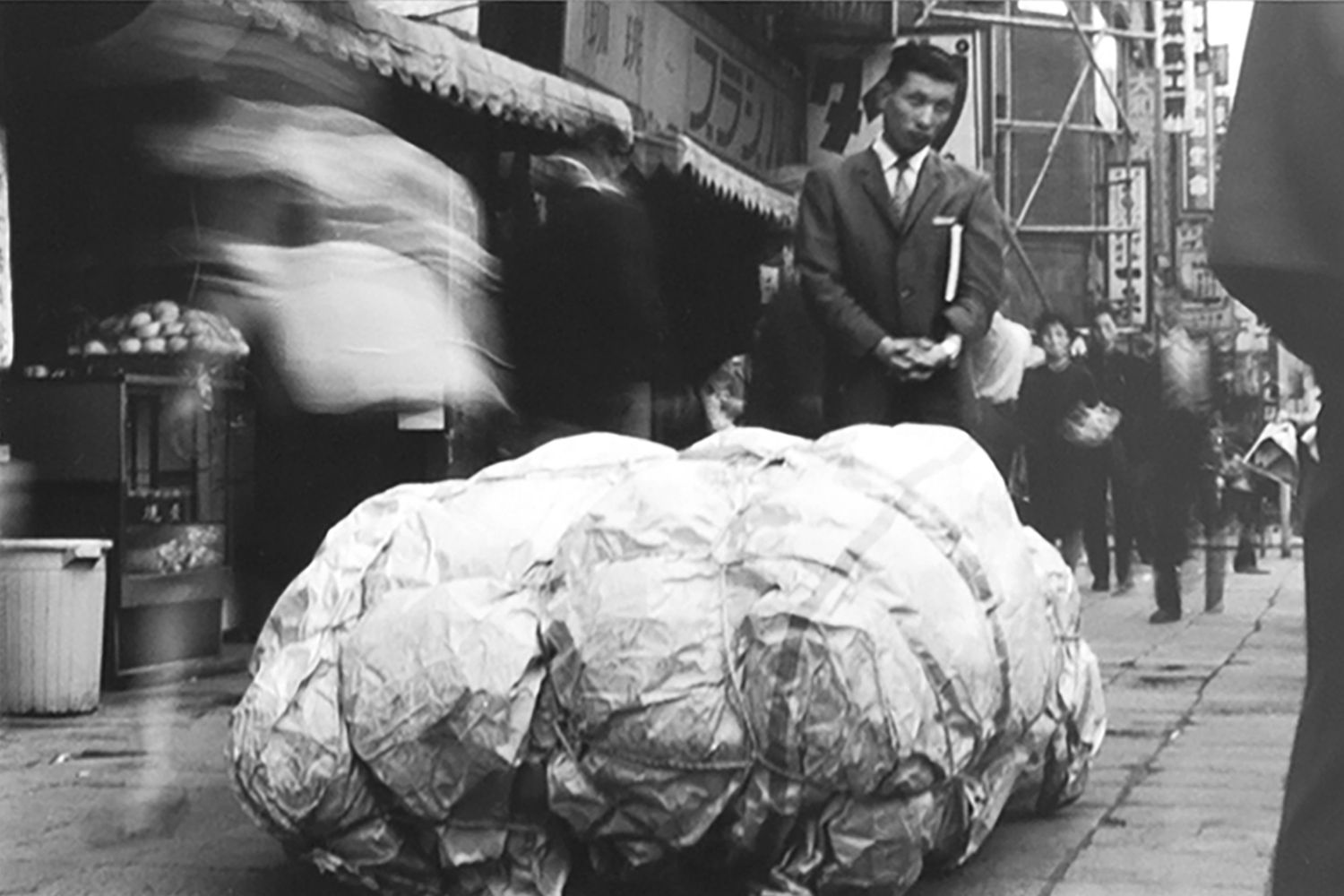 Jiro Takamatsu, 'Package' placed on the road in the course of The 6th Mixer Plan., 1963