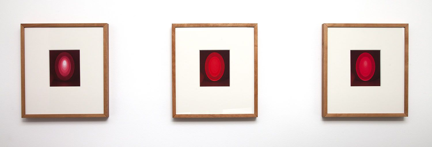 James Turrell From the Guggenheim, Set M, Red Small Vertical, 2013