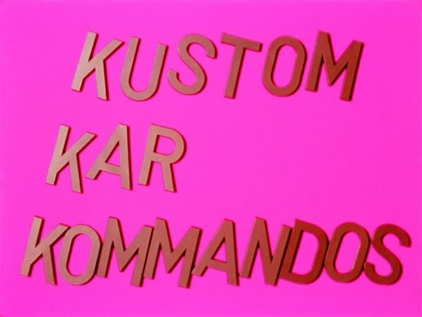 Kenneth Anger, Kustom Kar Kommandos, 1965