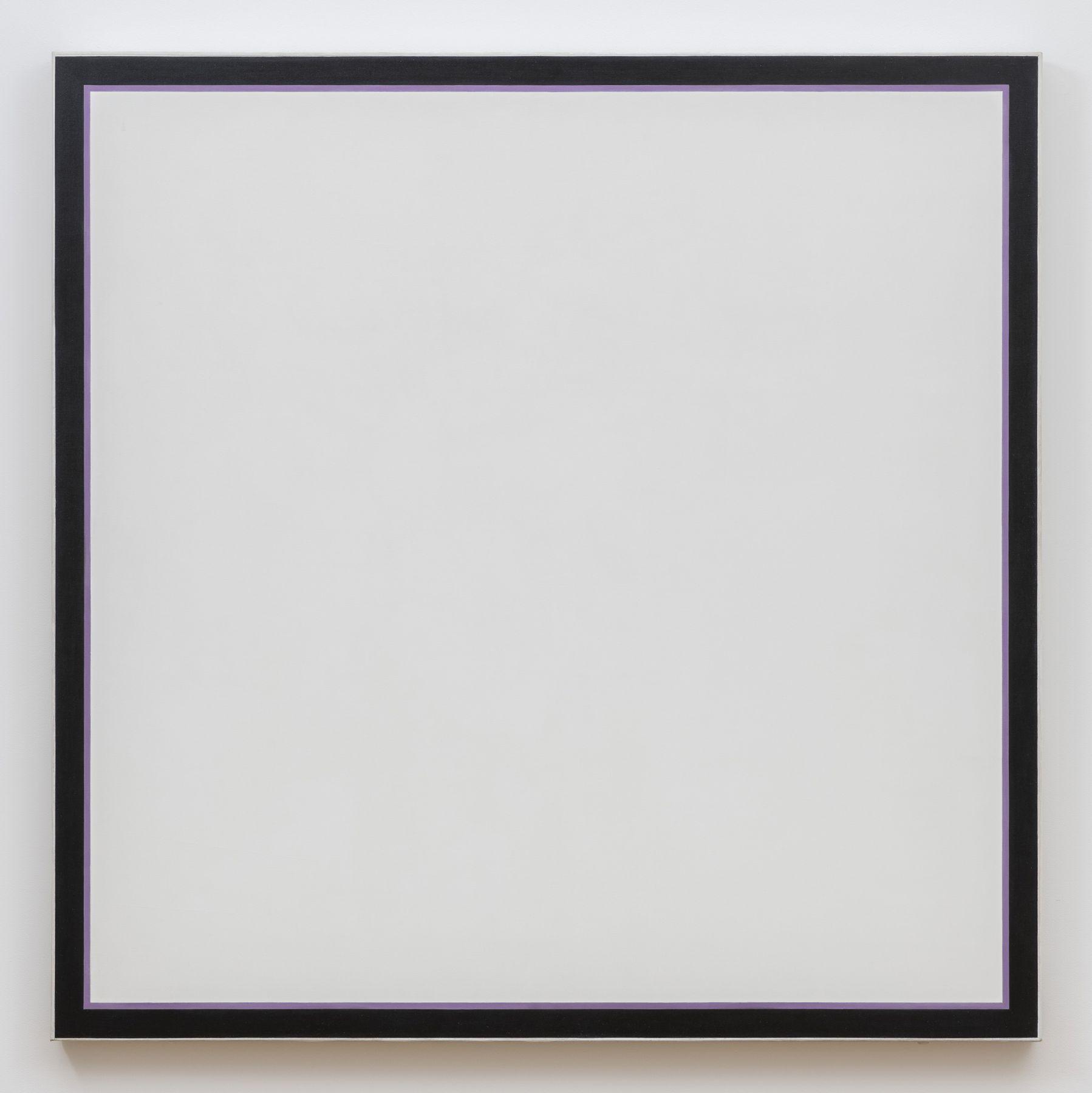 Jo Baer Untitled (White Square Lavender), 1964-1974