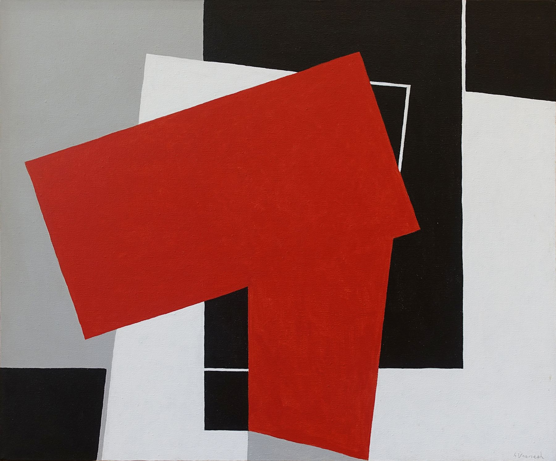 George Vranesh (1926-2014) Color Red, 1990