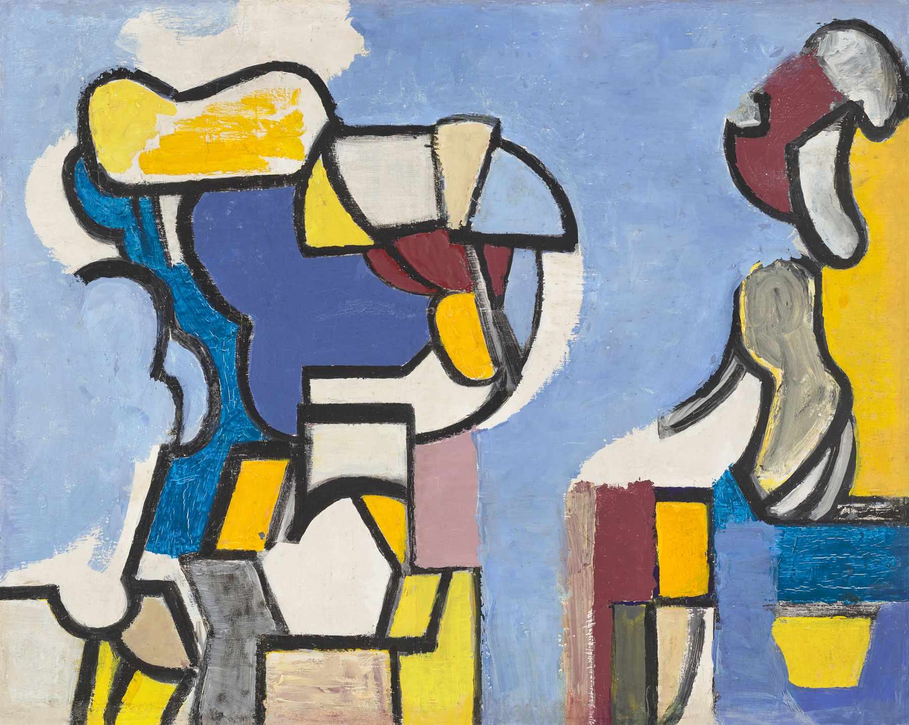 Nell Blaine (1922-1996) Abstraction, 1948–9