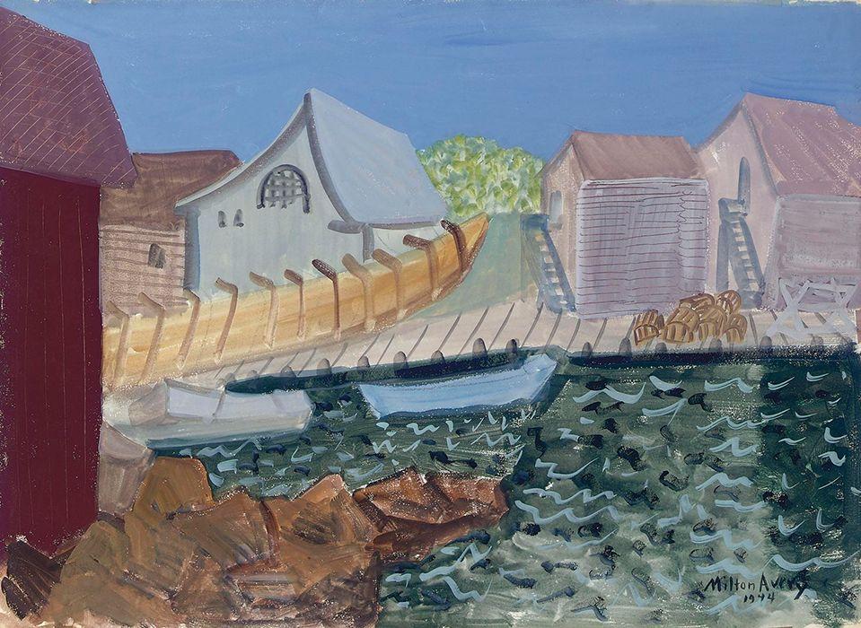 Milton Avery (1885-1965) Fishing Harbor, 1944