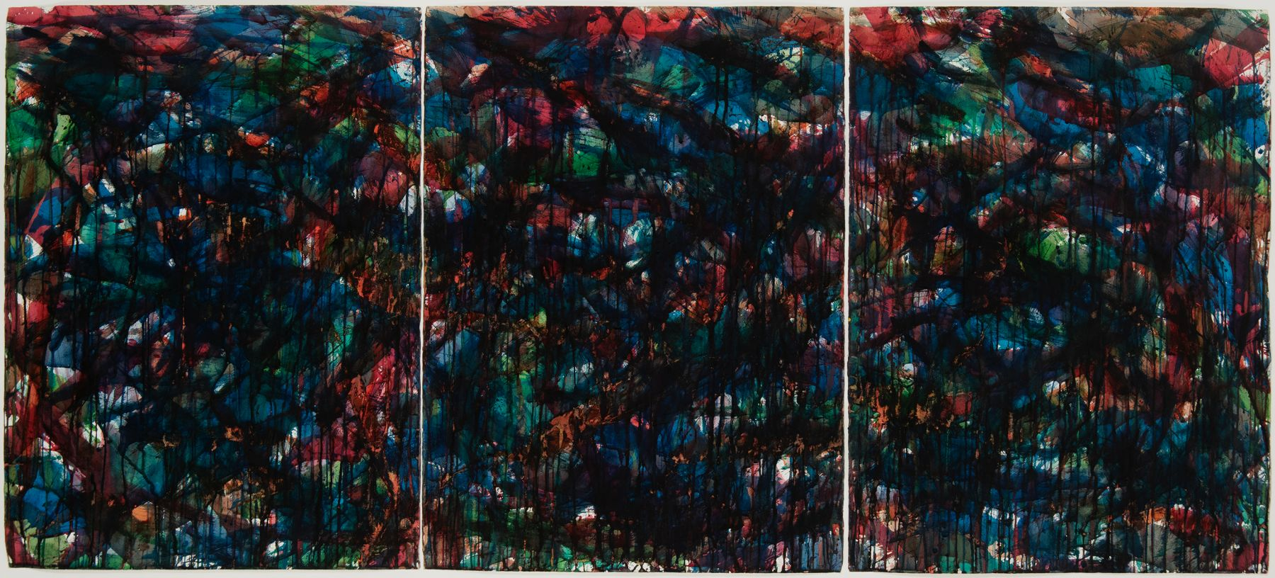 Norman Bluhm (1921-1999) Stained Glass Landscape #9, 1957