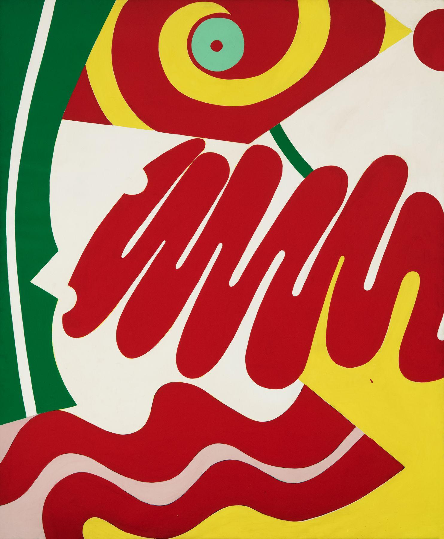 Knox Martin (b. 1923) Women's Face, 1972