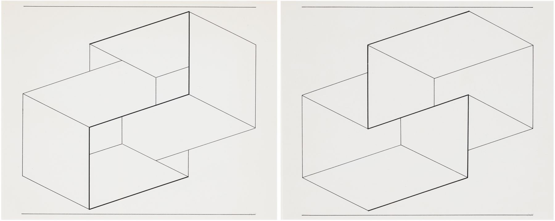 Josef Albers (1888-1976) Drawing of a Structural Constellation I & II: A pair of drawings, 1962