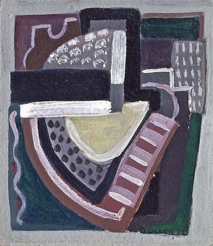 Blanche Lazzell (1878-1956) Abstraction (Violet and Green No. 3), 1932