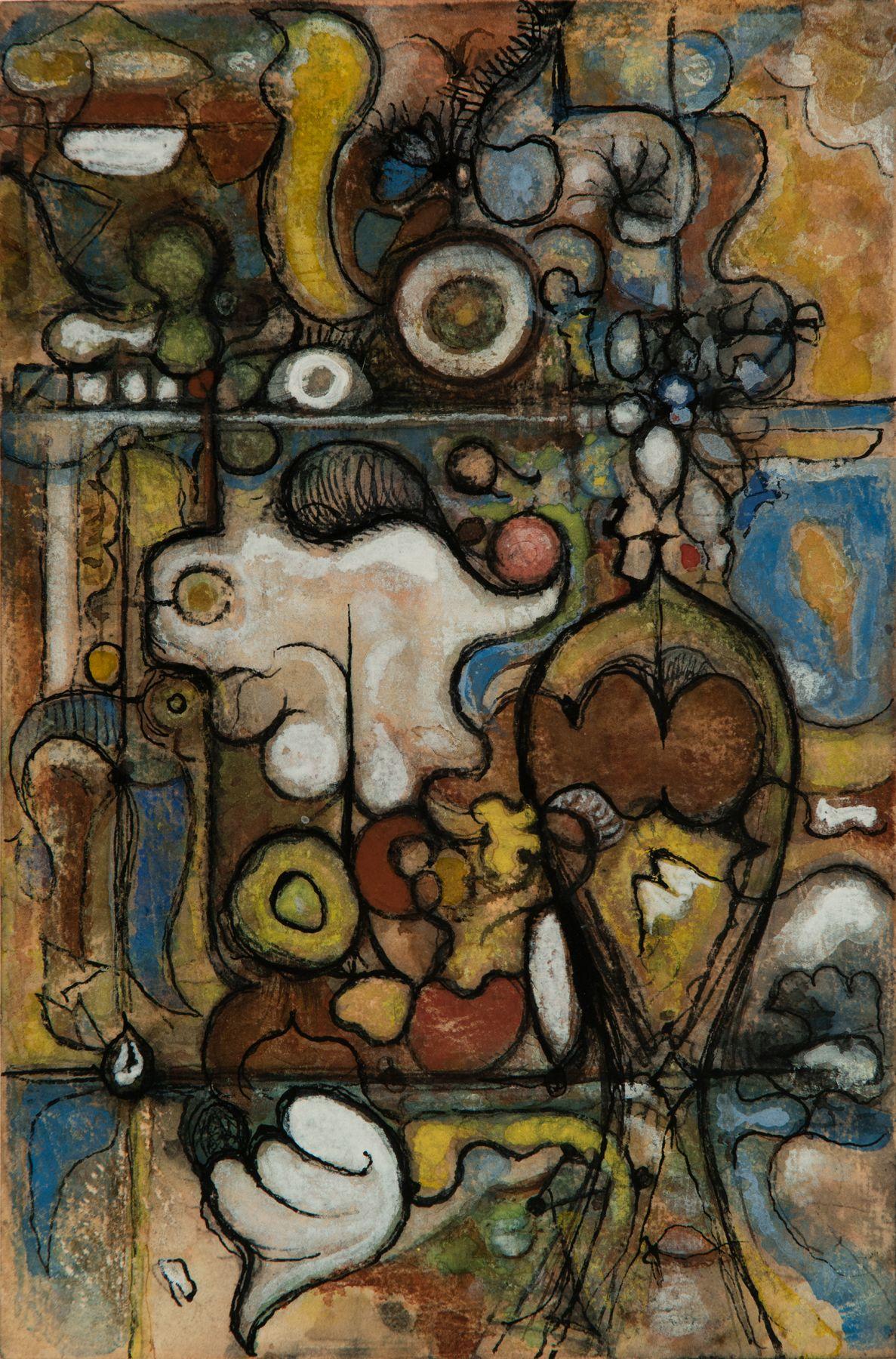 Richard Pousette-Dart (1916-1992) Untitled, circa 1945