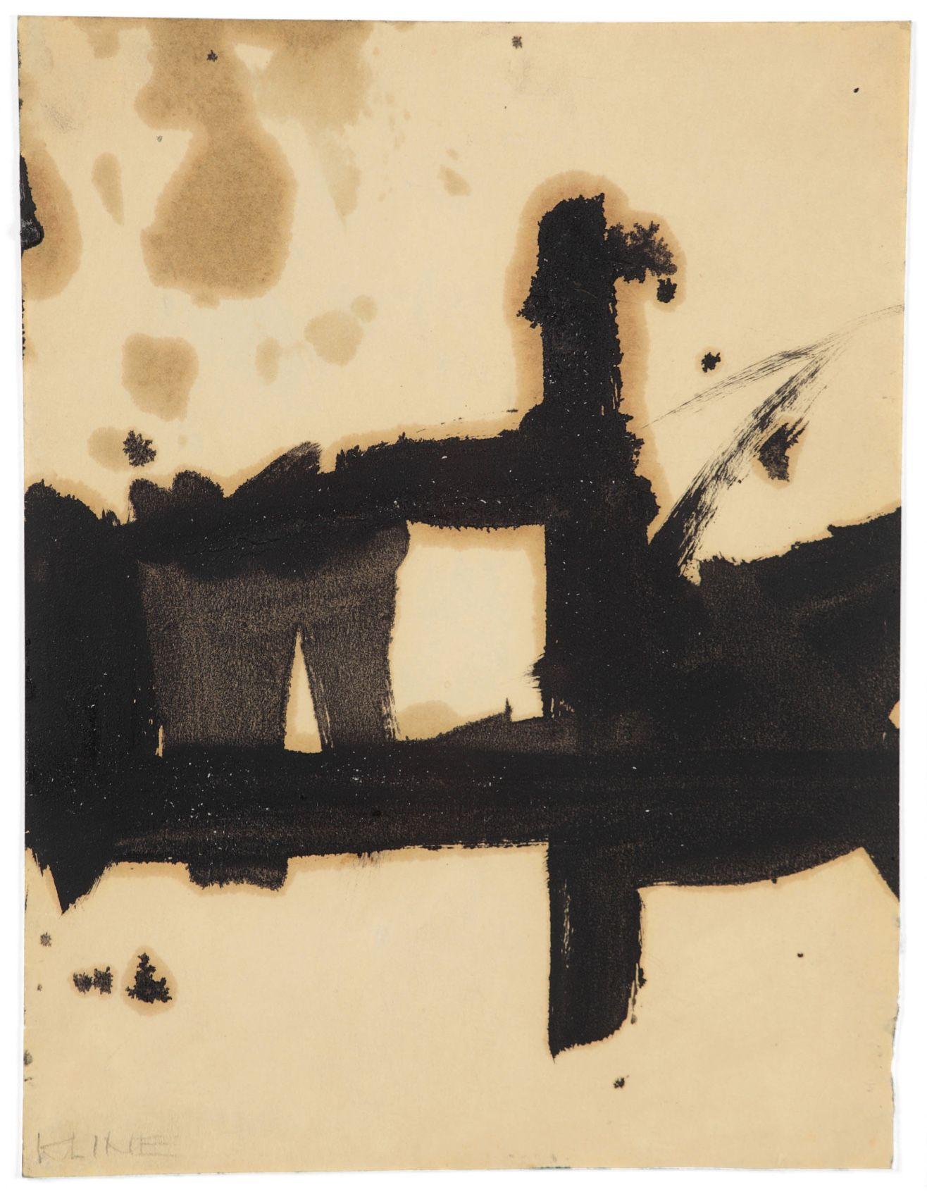 Franz Kline (1910-1962) Composition, n.d.