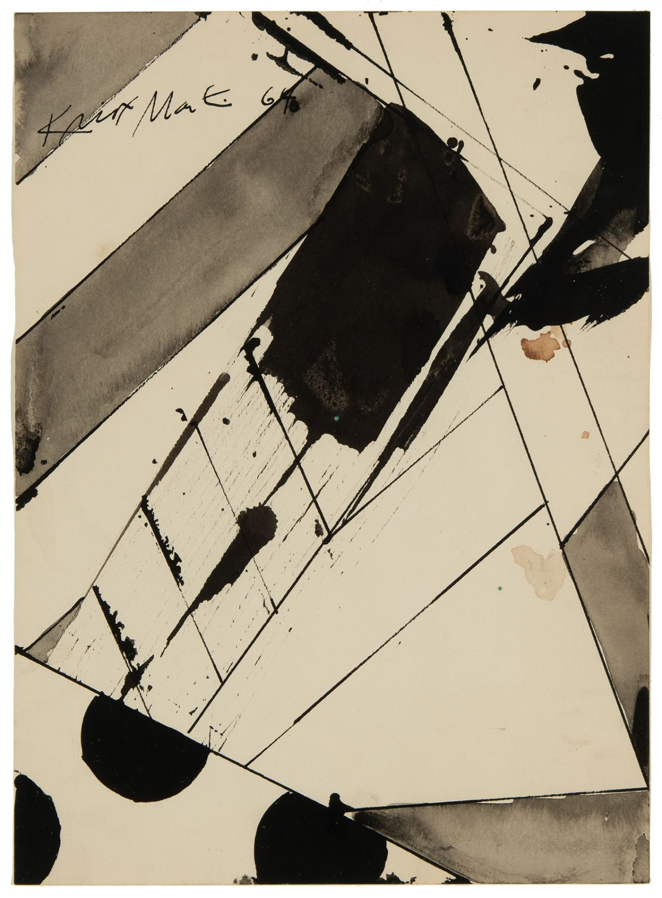 """Knox Martin (b. 1923) Study for a painting called """"Edge"""", 1964"""