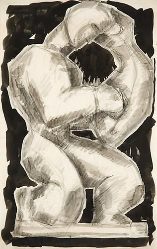 Richard Pousette-Dart - Hero and Leander, circa late 1930s