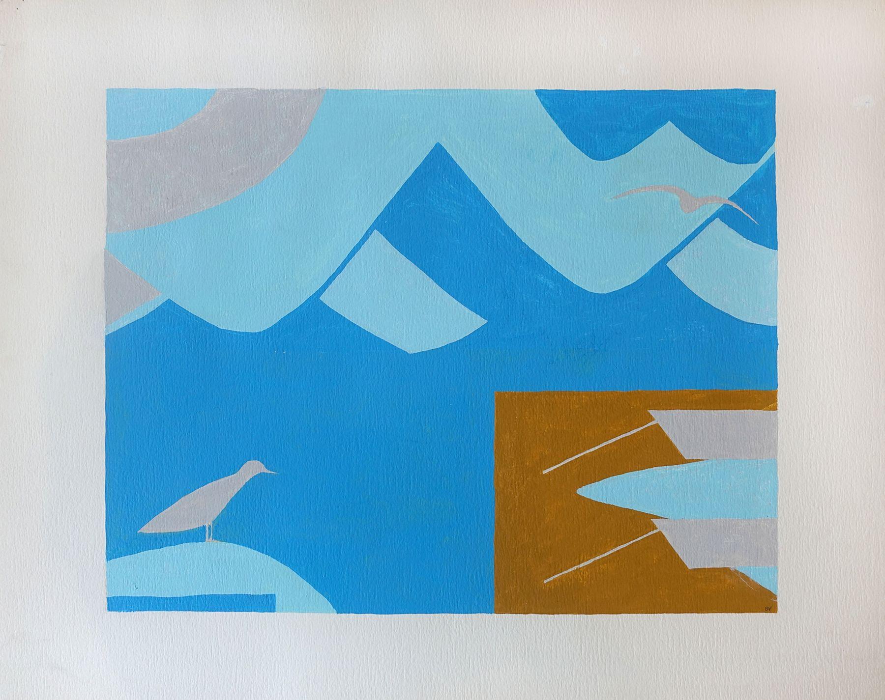 George Vranesh (1926-2014) Untitled (Birds at the Beach), 1986