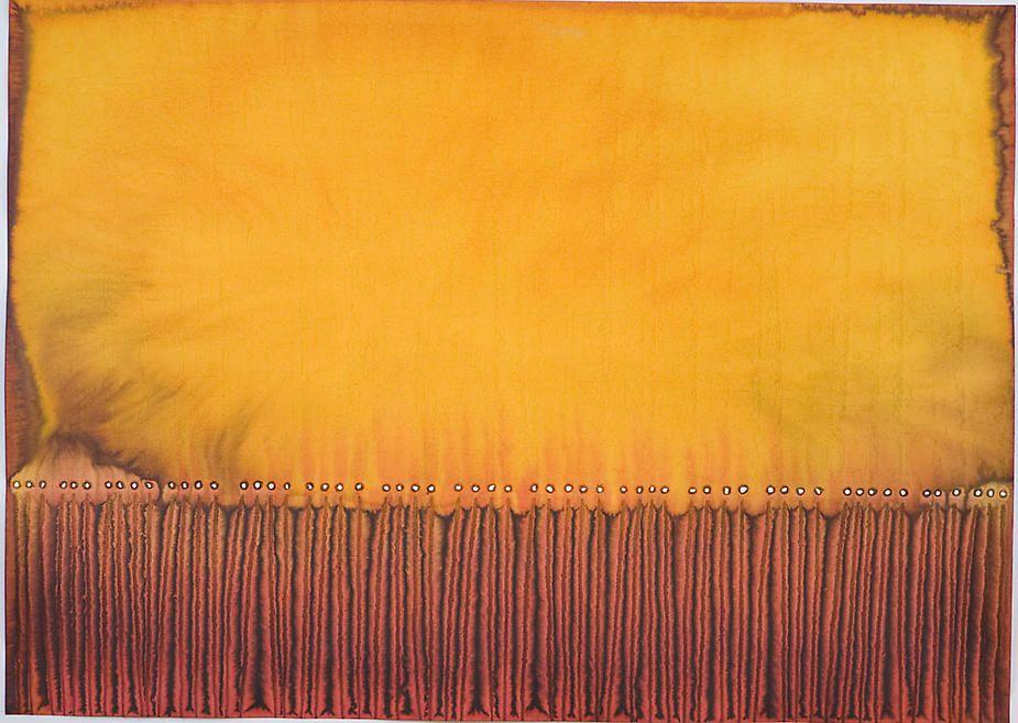 """Utsava II, 2007, Ink and dye on paper, 39 x 55"""""""