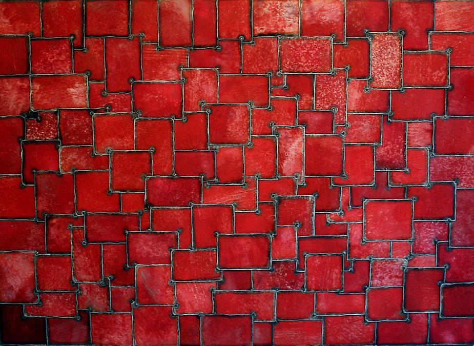 "Nathan Slate Joseph, Buchara, 2007, pure pigment on galvanized steel, 84 x 60"""