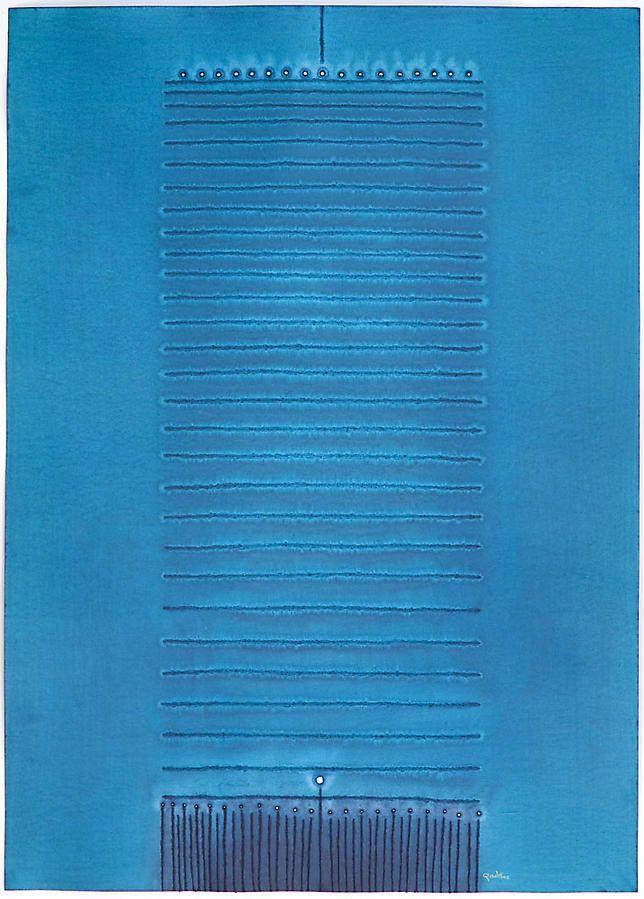 """Aguna II, 2008, Ink and dye on paper, 55 x 39"""""""
