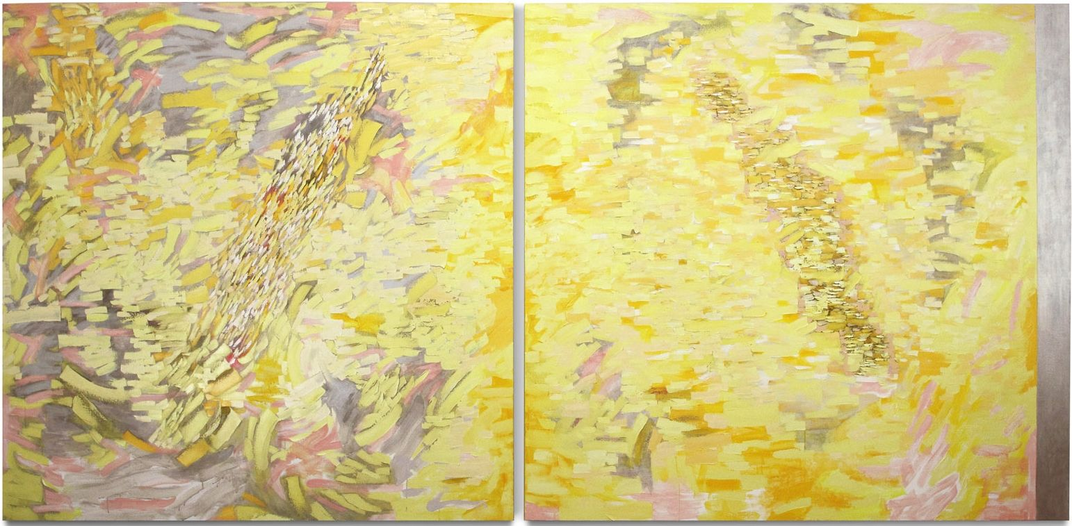 Panorama, 2013, oil on linen, 72 x 151 inches/182.9 x 383.5 cm