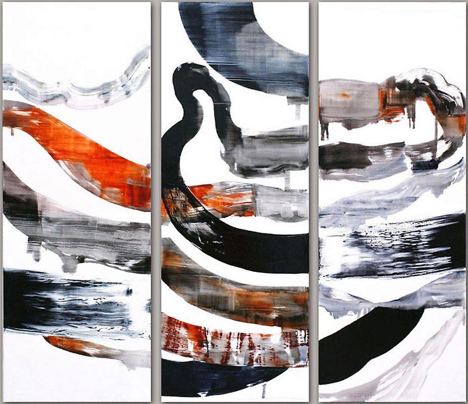 "Ricardo Mazal, Noviembre 16.07 (triptych), 2007, Oil on linen, 71 x 82.5"""
