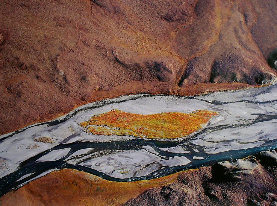 "Subhankar Banerjee,  Hulahula River I , 2002, digital chromogenic print, 31 x 41"""